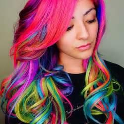 multi color hair ideas lila haare stile