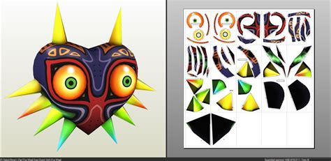 link majora s mask card template paper craft images craft decoration ideas