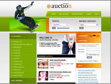 Auction Site Like Ebay Template 2 Los Angeles Web Design Custom Website Design Auction Site Template