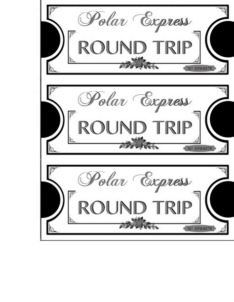 printable play tickets search results for polar express tickets template