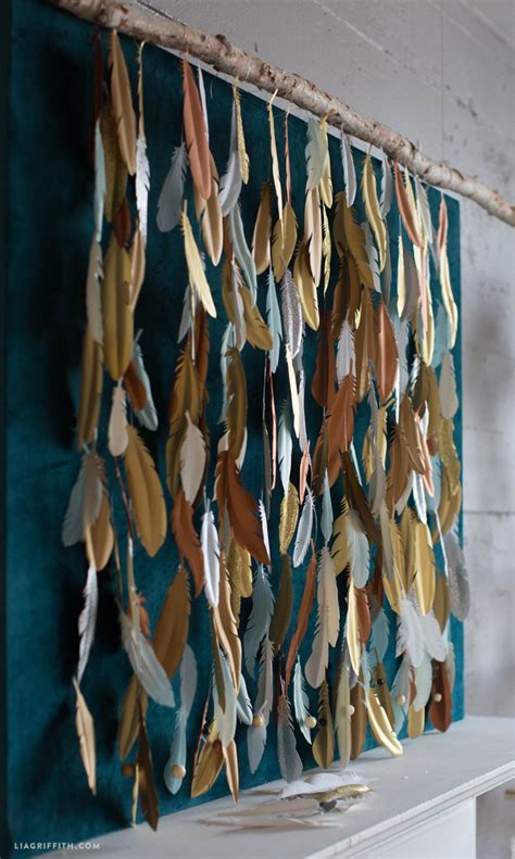 Branch Decorations For Home Make A Paper Feather Backdrop Diy Photo Backdrop