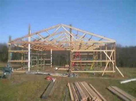 build  pole barn youtube