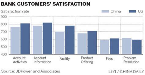 bank customer satisfaction bank customers satisfaction up markets chinadaily cn