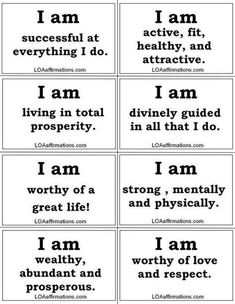 Affirmation Card Templates by What Is An I Am Statement Light Everyday