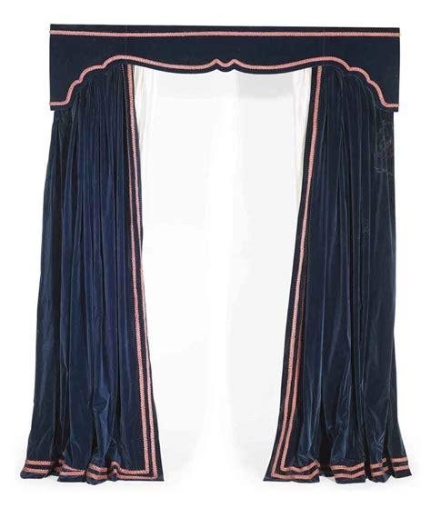 velvet blue curtains four pairs of blue velvet curtains and box pelmets