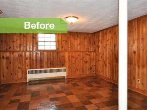 What To Do With Wood Paneling | knotty to nice painted wood paneling lightens a room s look