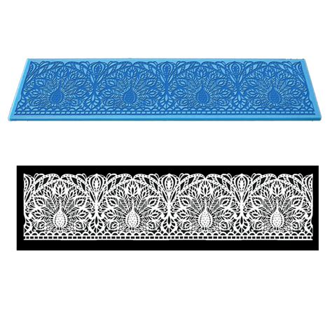 Silicone Mats For Sugarcraft by New Silicone Fondant Lace Embosser Mat Cake Sugarcraft