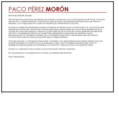 Modelo De Curriculum Vitae De Operador De Maquinaria Pesada Modelo De Carta De Presentaci 243 N Operador De Maquinaria Livecareer
