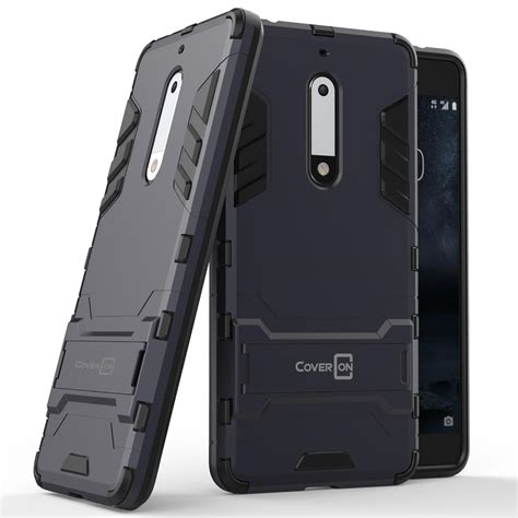 Casing Kesing Nokia 2630 for nokia 5 navy black kickstand protective phone cover 689720057763 ebay