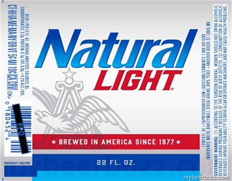 how many calories in natural light beer anheuser busch updates natural light packaging brewed in