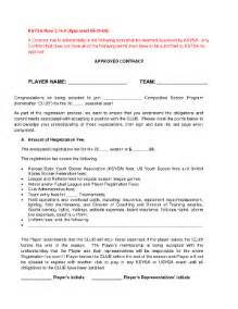football contract template youth soccer player contract fill printable