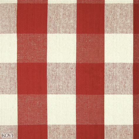 red buffalo check upholstery fabric lobster red plaid cotton upholstery fabric