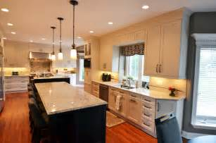 pictures of bright white transitional kitchen designs