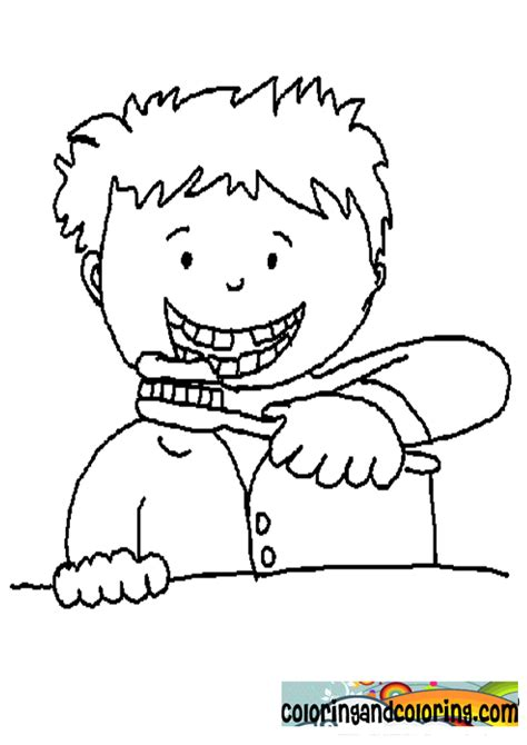 brush teeth coloring page coloring home