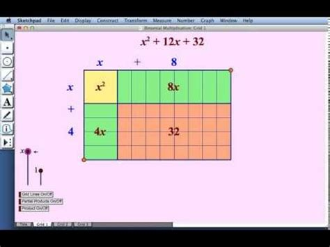 algebra tiles template binomial multiplication part one and two dynamic algebra