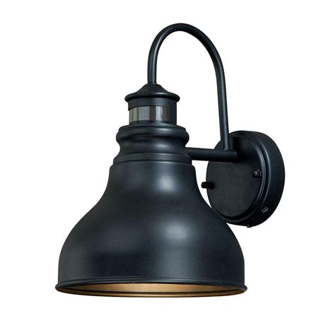 brass motion sensor outdoor lighting shop cascadia franklin 11 in h oil rubbed bronze motion