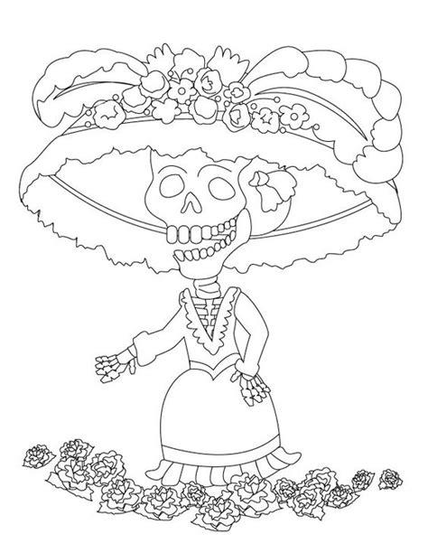 imagenes para pintar a un catrin imagenes catrinas calaveras mexicanas colorear 16 catrinas10