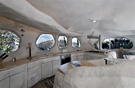 dick clark s unique flintstone style house for sale in creative flintstone style house cave rock kitchen round