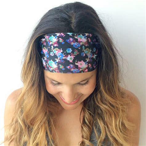 Bandana Headband Bando Murah 2016 sweet print floral flower wide headband bandanas hair band accessories us34