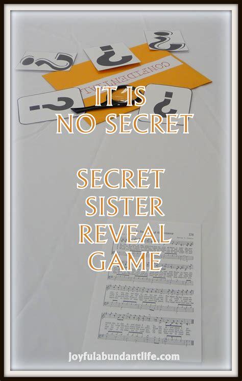 secret reveal it is no secret revealing secret