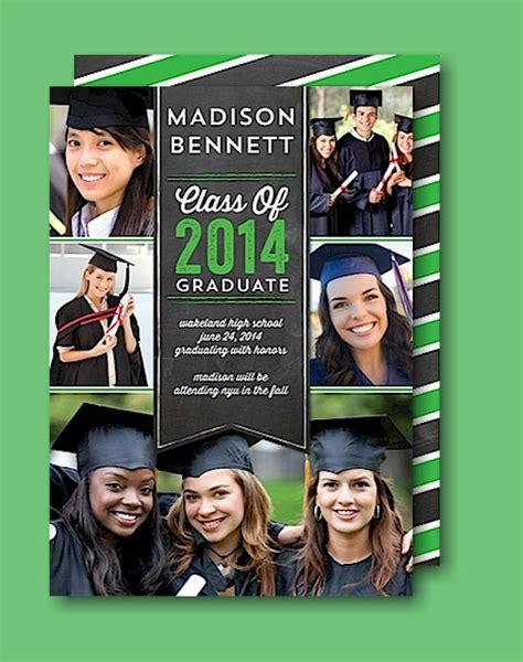 graduation collage print banner collage green graduation announcement grad