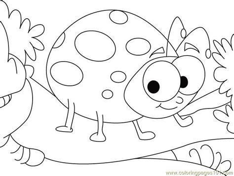 printable coloring pages ladybugs ladybug in happy mood