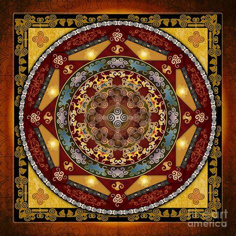 Buy Duvet Cover Online Mandala Oriental Bliss Digital Art By Bedros Awak