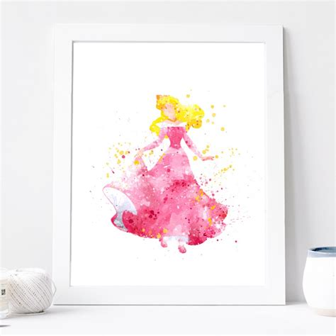 free disney printable wall art sleeping beauty print disney princess poster watercolor