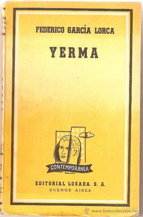 libro yerma federico garcia lorca yerma 1954 comprar en