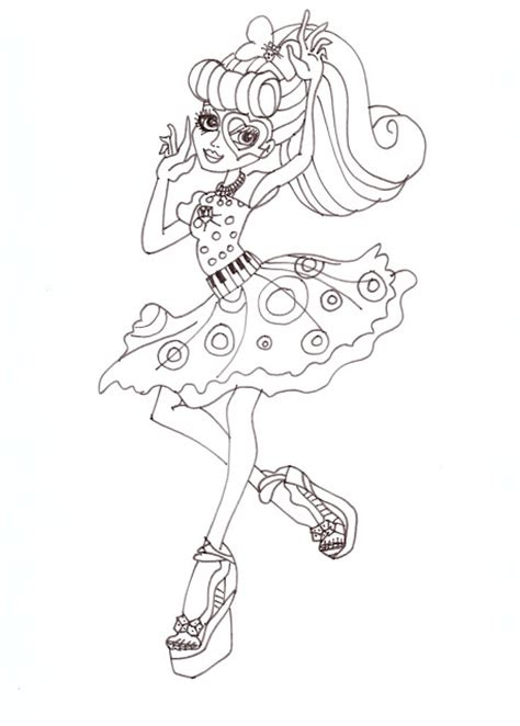 monster high baby operetta coloring pages all about monster high dolls operetta free printable