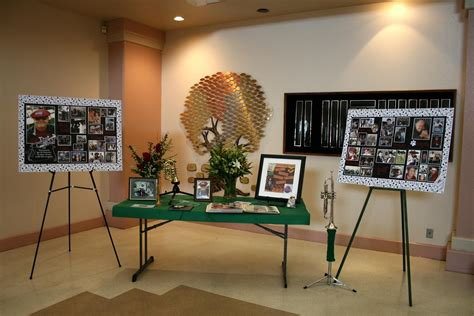 table picture display ideas display ideas display funeral and