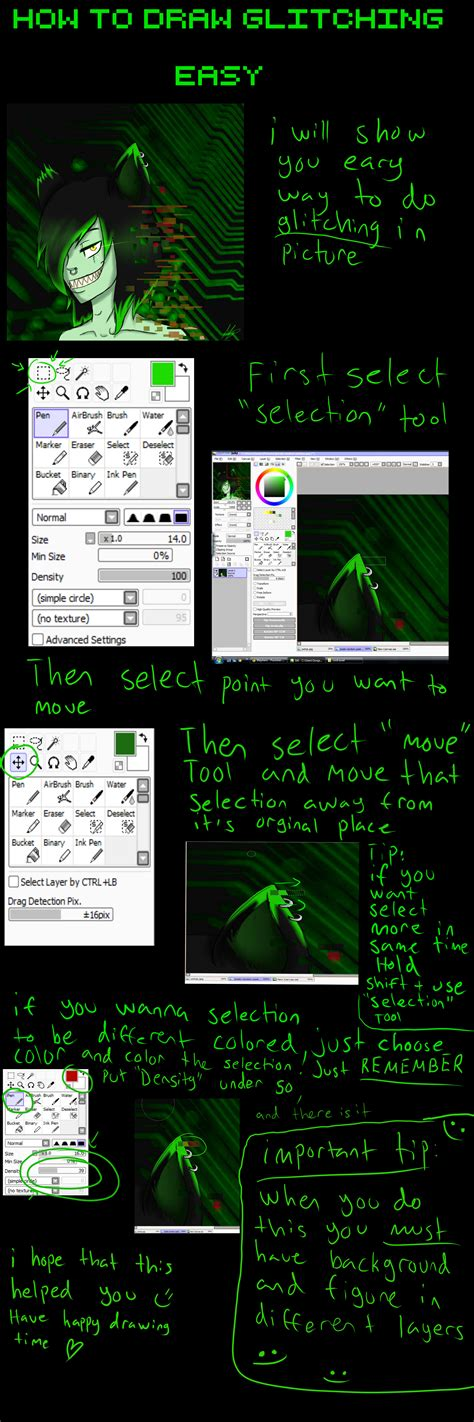 Tutorial How To Draw Glitching Paint Tool Sai By