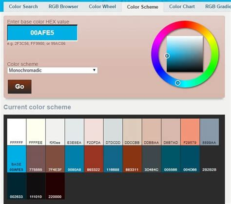 color combination generator super fast color scheme palettes tools and generators for