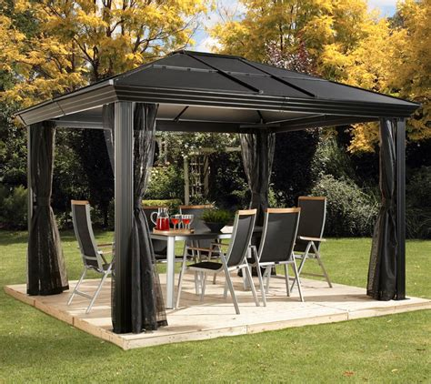 Aluminium Pavillon by Sojag Aluminium Pavillon Gazebo Cambridge 10x12 Inkl