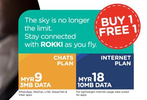 airasia rokki tune talk offering buy 1 free 1 promotion for rokki