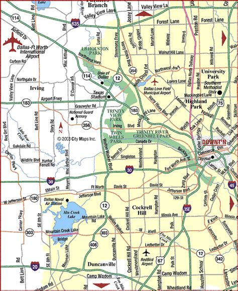 dallas texas road map road map of metro dallas west dfw airport dallas texas aaccessmaps