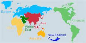 New Zealand World Map by New Zealand Map In World Map