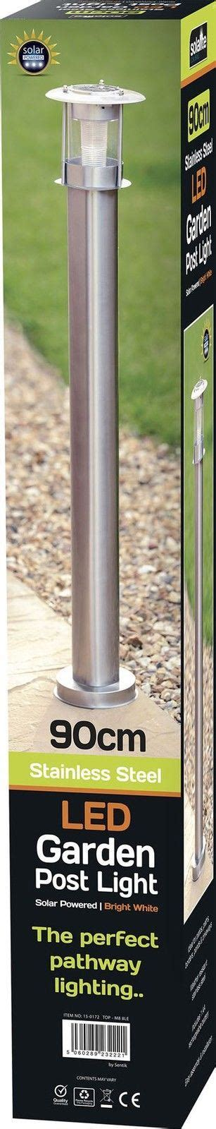 Solar Light Posts For Driveways 90cm Stainless Steel Outdoor Patio Driveway Garden Led