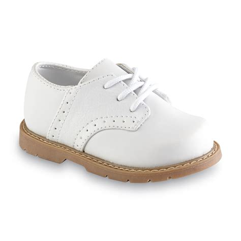 boys oxford shoe steps baby toddler boy s clay white oxford