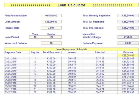 mortgage calculator template loan calculator spreadsheet loan calculator spreadsheet