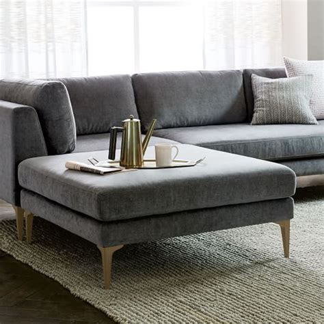 west elm andes sofa andes ottoman west elm