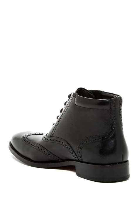 cole haan williams boot cole haan williams wingtip boot in black for lyst