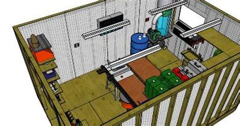 sketchup workshop layout sketchup plans for a 12 x 16 workshop shed shop garage