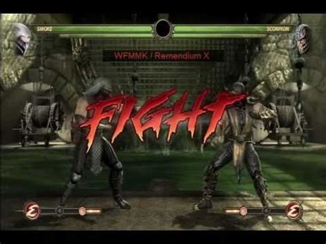 mortal kombat scorpion vs noob saibot youtube smoke noob saibot vs scorpion cyber sub zero mortal