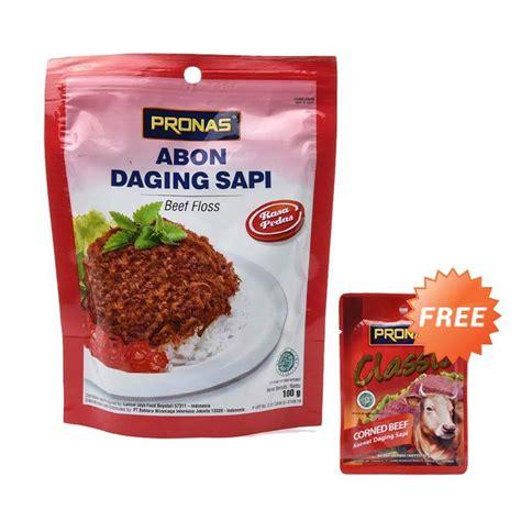 Pronas Corned Beef Chili 198g jual pronas chili beef floss makanan instan 100 g free