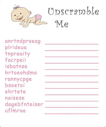free printables baby shower games ideas free printable baby shower games a baby shower word