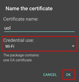 android certificate installer of leicester setup eduroam wifi android phone or device