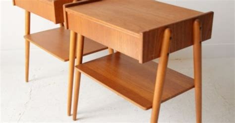 gio ponti lade pair of teak ab carlstrom bedside tables available from