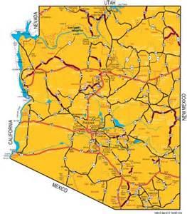 deserts in arizona map