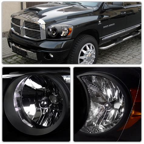 smoked dodge ram headlights hid xenon 06 08 dodge ram 1500 2500 3500